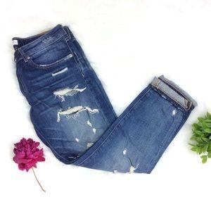 Zara Woman Distressed Boyfriend Jeans Size 8